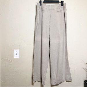 Cato Linen Blend Wide Leg Slacks 16W